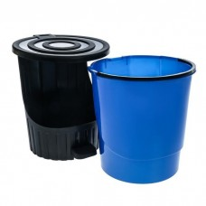 Ведро для мусора с педалью и крышкой 14л цвет МИКС траснформер