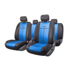 Чехлы на сиденья передние и задние Autoprofi TT series (черный/синий)