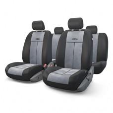 Чехлы на сиденья передние и задние Autoprofi TT-V series (черный/серый)