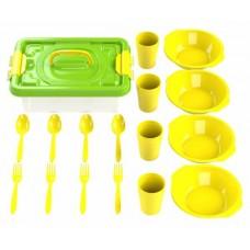 Набор посуды для пикника №2 «Всегда с собой» (4 персоны, 17 предметов)