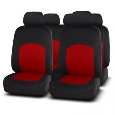 Чехлы на сиденья передние и задние Autopremier Best BST1200 чёрный/красный
