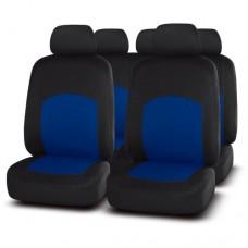 Чехлы на сиденья передние и задние Autopremier Best BST1100 чёрный/синий