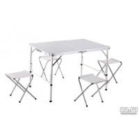 Стол большой + 4 стула Alumi Folding Table 120x60x70